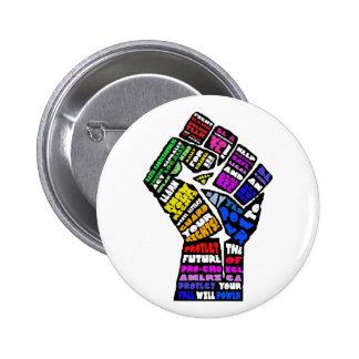 botón que gana pin redondo de 2 pulgadas