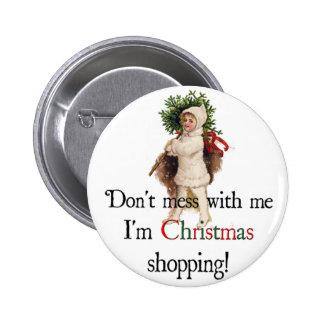 Botón que hace compras del navidad (w/picture) pins