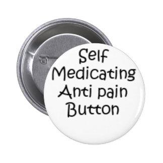botón que medica del uno mismo pin redondo de 2 pulgadas