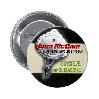 Botón que se lanza en paracaídas de McCain