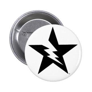 botón quebrado de la estrella pin redondo de 2 pulgadas