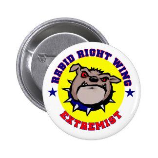 Botón rabioso del extremista de la derecha