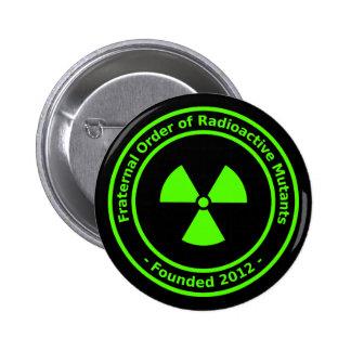 Botón radiactivo de los mutantes pins