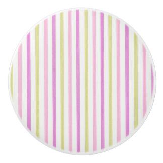 Botón/rayas de cerámica pomo de cerámica