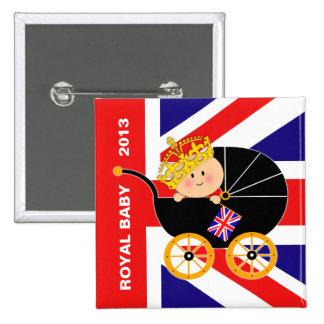 Botón real británico del bebé pins