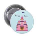 Botón real del castillo de princesas pin