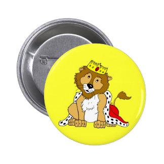 Botón real del león pin redondo de 2 pulgadas