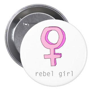 Botón rebelde del chica