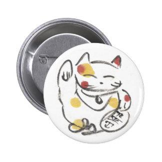 Botón rechoncho de Maneki Neko