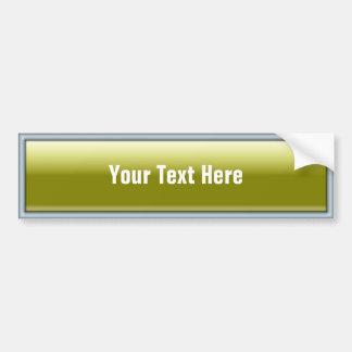 Botón rectangular del Web 2,0 Pegatina De Parachoque