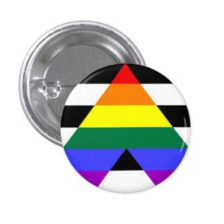 Botón recto de la bandera del aliado pin redondo de 1 pulgada