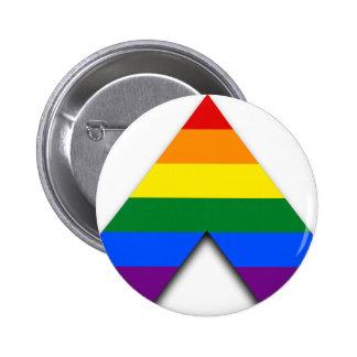 Botón recto del aliado de LGBT Pin Redondo De 2 Pulgadas