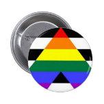 Botón recto del orgullo del aliado pin