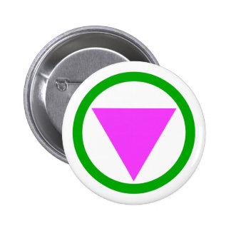 Botón recto del símbolo del aliado pin redondo de 2 pulgadas