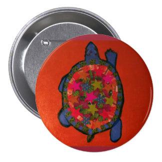 Botón redondo con la tortuga de Bling Pin Redondo De 3 Pulgadas