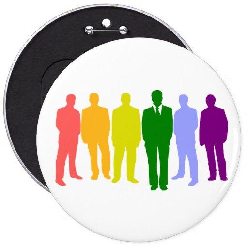 Botón redondo de 6 HOMBRES GAY Pin Redondo De 6 Pulgadas