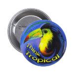 Botón redondo de Aruba Toucan Pin