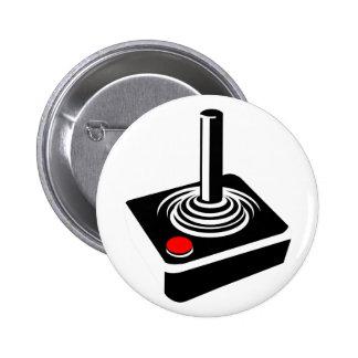 """Botón redondo de """"Atari"""" de la palanca de mando Pin Redondo De 2 Pulgadas"""