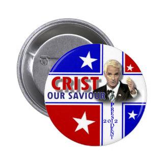 Botón redondo de Charlie Crist 2012 Pin Redondo De 2 Pulgadas