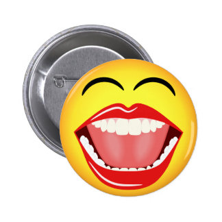 Botón redondo de encargo divertido amarillo pin redondo de 2 pulgadas