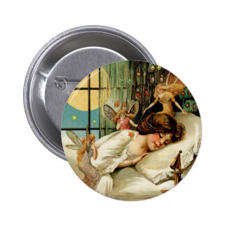 Botón redondo de Halloween del vintage Pin Redondo De 2 Pulgadas