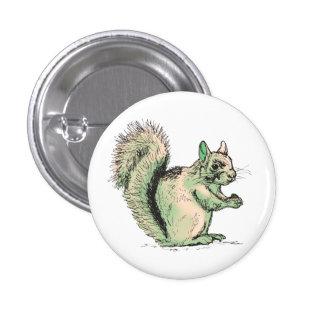 Botón redondo de la ardilla pin redondo de 1 pulgada