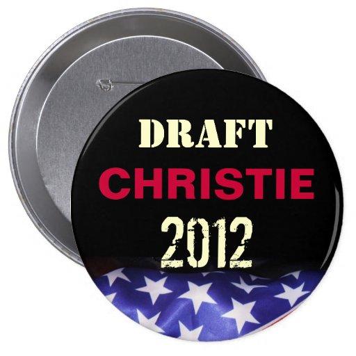 Botón redondo de la campaña de CHRISTIE 2012 de Ch