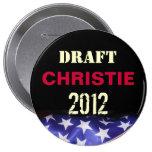 Botón redondo de la campaña de CHRISTIE 2012 de Ch Pins