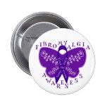 Botón redondo de la conciencia del Fibromyalgia Pins