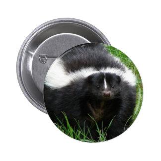 Botón redondo de la foto de la mofeta pins