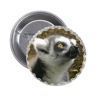 Botón redondo de la foto del Lemur Pin