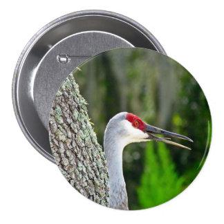 Botón redondo de la grúa de la colina de la arena pin