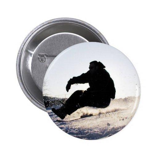 Botón redondo de la imagen de la snowboard