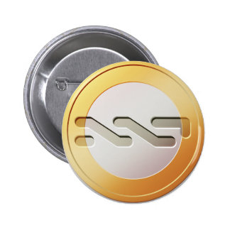 Botón redondo de la moneda de NXT