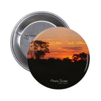 Botón redondo de la puesta del sol del acacia pin