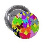 Botón redondo de las mariposas coloridas pin