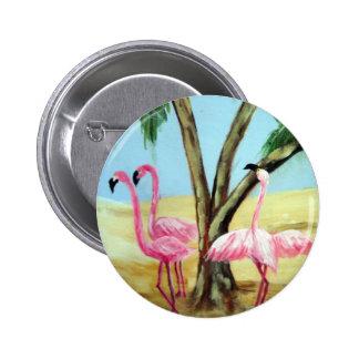 """Botón redondo """"de los flamencos de la Florida"""" Pins"""