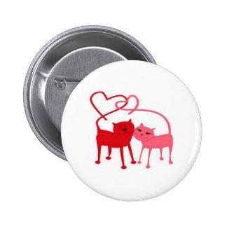 Botón redondo de los gatos de la tarjeta del día d pin redondo de 2 pulgadas