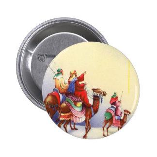 Botón redondo de los hombres sabios del vintage pin redondo de 2 pulgadas