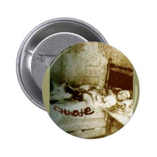 Botón redondo de /Mary Kelly del cátodo
