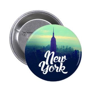 Botón redondo de Nueva York Pin Redondo De 2 Pulgadas