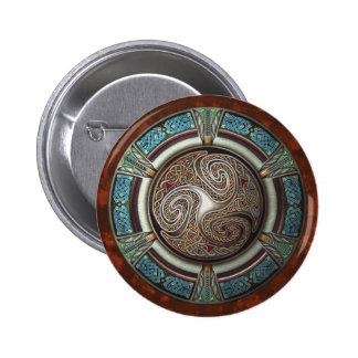 Botón redondo de Triskelion Pin