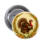 Botón redondo de Turquía de la acción de gracias Pins