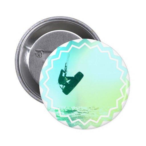 Botón redondo del aire de Kiteboarding Pin Redondo De 2 Pulgadas