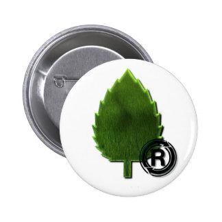 Botón redondo del ambiente sostenible pin