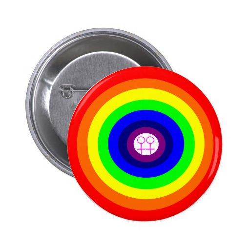 Botón redondo del arco iris de las lesbianas pins