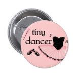 Botón redondo del ballet del bailarín minúsculo pin