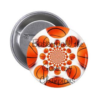 Botón redondo del baloncesto pin redondo de 2 pulgadas