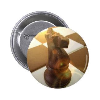 Botón redondo del caballero del ajedrez pin redondo de 2 pulgadas