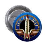 Botón redondo del cadete del espacio pins